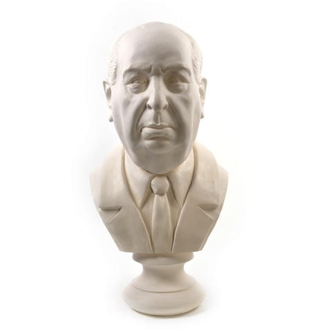 Sir Alfred Hitchcock - Life-size 25kg Plaster Bust Statue