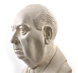 Sir Alfred Hitchcock - Life-size 25kg Plaster Bust Statue Thumbnail 2