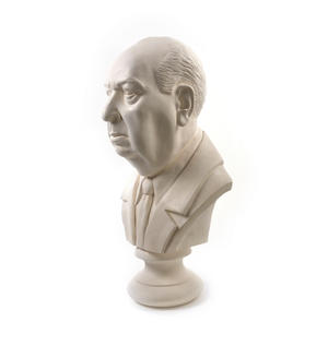 Sir Alfred Hitchcock - Life-size 25kg Plaster Bust Statue Thumbnail 3