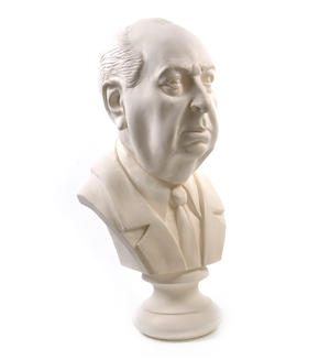 Sir Alfred Hitchcock - Life-size 25kg Plaster Bust Statue Thumbnail 6
