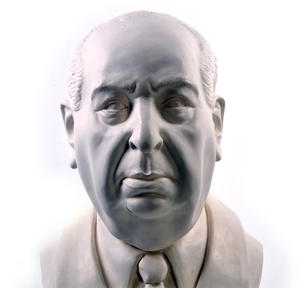 Sir Alfred Hitchcock - Life-size 25kg Plaster Bust Statue Thumbnail 8