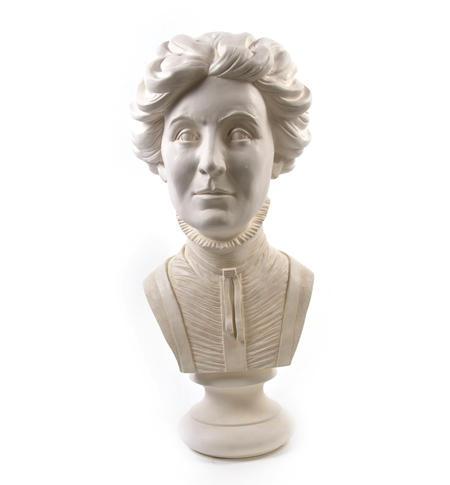 Emmeline Pankhurst - Life-size 20kg Plaster Bust Statue