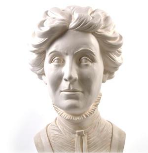 Emmeline Pankhurst - Life-size 20kg Plaster Bust Statue Thumbnail 3