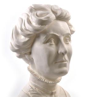 Emmeline Pankhurst - Life-size 20kg Plaster Bust Statue Thumbnail 4