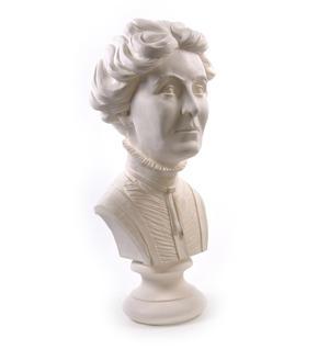 Emmeline Pankhurst - Life-size 20kg Plaster Bust Statue Thumbnail 5