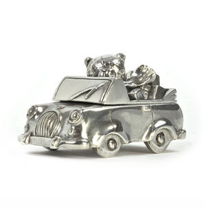 Boy Teddy Car Keepsake Box - Teddy Bears Picnic by Royal Selangor 016514R Thumbnail 1