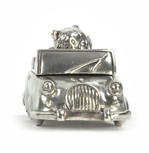 Boy Teddy Car Keepsake Box - Teddy Bears Picnic by Royal Selangor 016514R Thumbnail 2