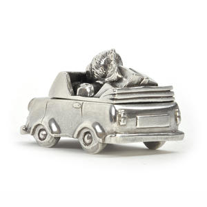 Boy Teddy Car Keepsake Box - Teddy Bears Picnic by Royal Selangor 016514R Thumbnail 3