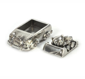Boy Teddy Car Keepsake Box - Teddy Bears Picnic by Royal Selangor 016514R Thumbnail 4