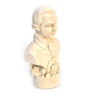 Adam Smith Statuette - Famous Faces Collection Plaster Bust Thumbnail 2