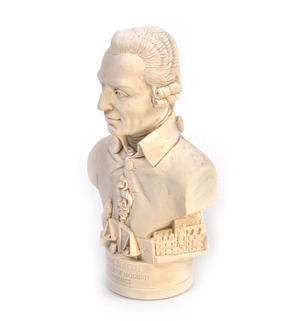 Adam Smith Statuette - Famous Faces Collection Plaster Bust Thumbnail 3