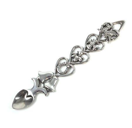 Open Hearts Welsh Lovespoon - Everlasting Welsh Love Spoon Forged in Pewter