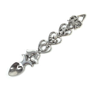 Open Hearts Welsh Lovespoon - Everlasting Welsh Love Spoon Forged in Pewter Thumbnail 1