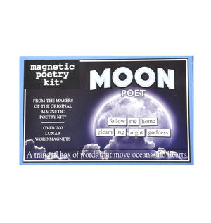 Moon Fridge Magnet Poetry Set - Moon Fridge Poetry Thumbnail 1