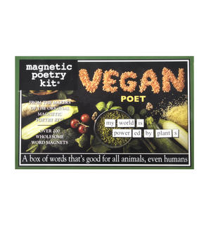 Vegan Fridge Magnet Poetry Set - Vegan Fridge Poetry