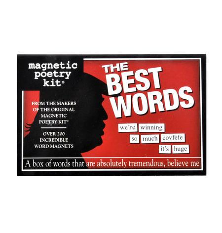 Best Words Fridge Magnet Poetry Set - Trumpist Fridge Poetry