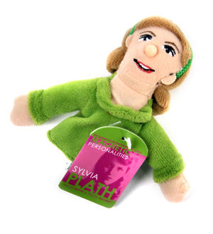 Sylvia Plath Finger Puppet and Refrigerator Magnet Thumbnail 1