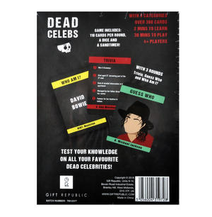 Dead Celebs Card Game Thumbnail 2
