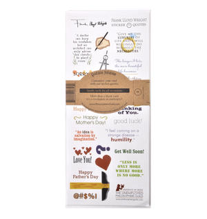 Frank Lloyd Wright Quotable Notable - Greeting Card With Sticker Quotes Thumbnail 2
