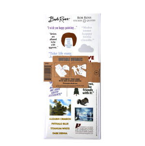 Bob Ross Quotable Notable - Greeting Card With Sticker Quotes Thumbnail 2