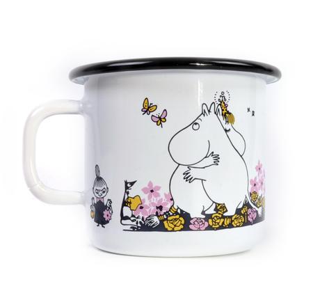 Moomin Hug - White Moomin Muurla Enamel Mug - 250 ml