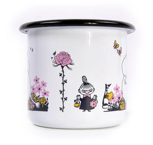 Moomin Hug - White Moomin Muurla Enamel Mug - 250 ml Thumbnail 2
