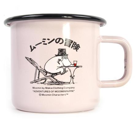 Moominpapa Drinking - Makia X - Moomin Muurla Enamel Mug - 370 ml