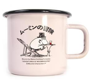 Moominpapa Drinking - Makia X - Moomin Muurla Enamel Mug - 370 ml Thumbnail 1