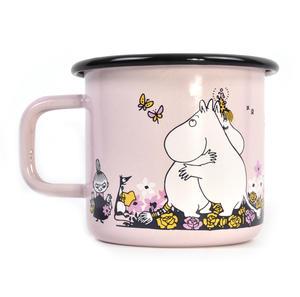Moomin Hug - Pink Moomin Muurla Enamel Mug - 370 ml Thumbnail 1