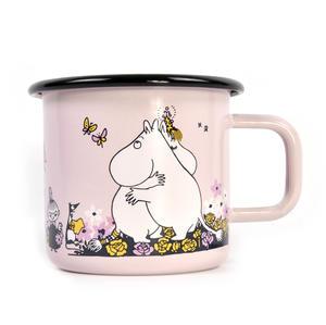 Moomin Hug - Pink Moomin Muurla Enamel Mug - 370 ml Thumbnail 2