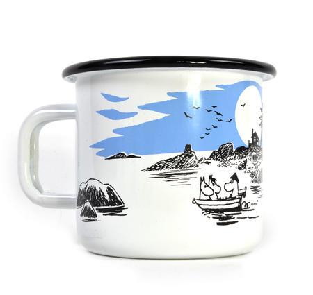 Moomin Boat Trip - Moomin Muurla Enamel Mug - 370 ml