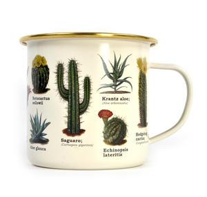 Cactus Enamel Mug