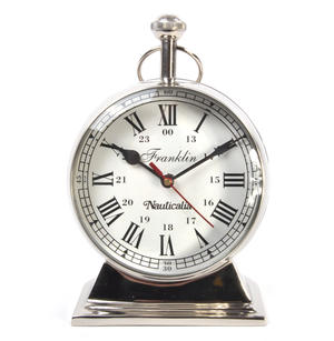 Chrome Franklin Watch Clock - Free Standing Desk Clock Thumbnail 6