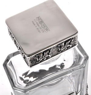 Welsh Dragon Decanter in Heavy Solid Pewter and Lead Crystal in Presentation Box Thumbnail 2