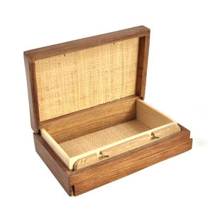 Flying Scotsman Steam Engine Secret Marquetry Stash Box with Invisible Opening System 8 x 12cm Thumbnail 3