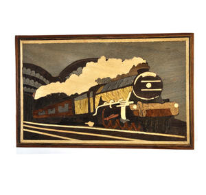 Flying Scotsman Steam Engine Secret Marquetry Stash Box with Invisible Opening System 8 x 12cm Thumbnail 4