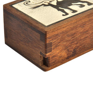 Elephant Secret Marquetry Stash Box with Invisible Opening System 6 x 8 cm Thumbnail 2