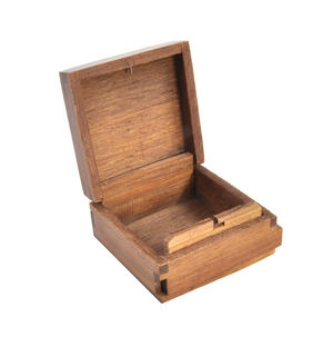 Beach Huts Secret Marquetry Stash Box with Invisible Opening System 8 x 8 cm Thumbnail 4