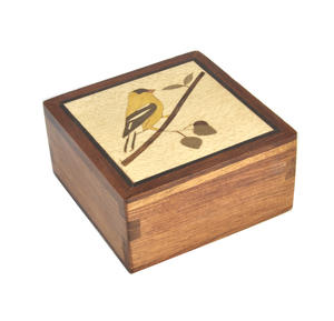Finch Secret Marquetry Stash Box with Invisible Opening System 8 x 8 cm Thumbnail 2