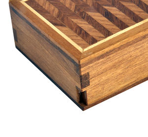 Geometric Secret Marquetry Stash Box with Invisible Opening System 8 x 8 cm Thumbnail 2