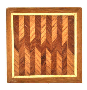 Geometric Secret Marquetry Stash Box with Invisible Opening System 8 x 8 cm Thumbnail 4