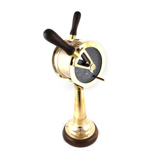 "Ship's Engine Order Telegraph - Working Reproduction Brass E.O.T. with Bell - 36cm / 14"" High Thumbnail 5"
