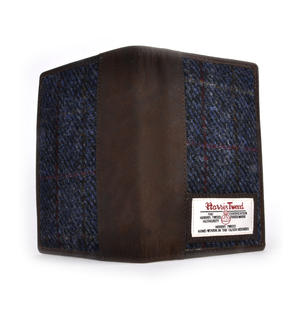 Blue Allasdale Harris Tweed Passport Wallet by The British Bag Company Thumbnail 3