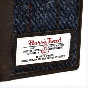 Blue Allasdale Harris Tweed Passport Wallet by The British Bag Company Thumbnail 4
