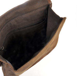 Red Harris Tweed Suede Cross Body Saddle Bag Thumbnail 3