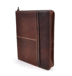 Brown Pull Up Leather Folio Case Thumbnail 1