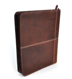 Brown Pull Up Leather Folio Case Thumbnail 2