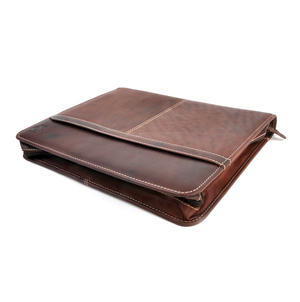 Brown Pull Up Leather Folio Case Thumbnail 3