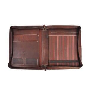 Brown Pull Up Leather Folio Case Thumbnail 4