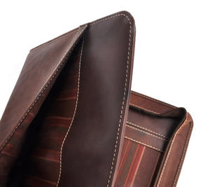Brown Pull Up Leather Folio Case Thumbnail 7